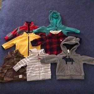 Carters 7 Item Infant Jacket Bundle- 3m- EUC!